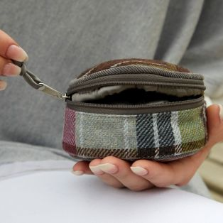 Tweed Jewellery Pouch