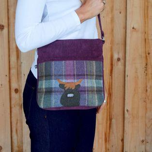 Tweed Applique Amelia Bag