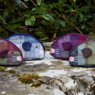 TWEED MOUSE PURSE